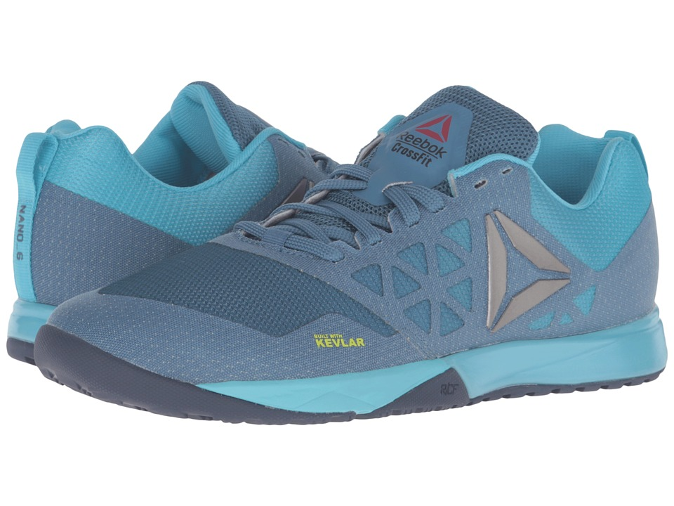Reebok Crossfit Nano 6.0 (Slate/Crisp Blue/Lemon Zest/Blue Ink/Pewter) Women