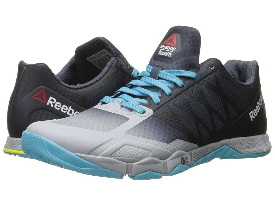 Reebok - Crossfit Speed TR (Cloud Grey/Royal Slate/Crisp Blue/Hero Yellow) Women's Cross Training Shoes