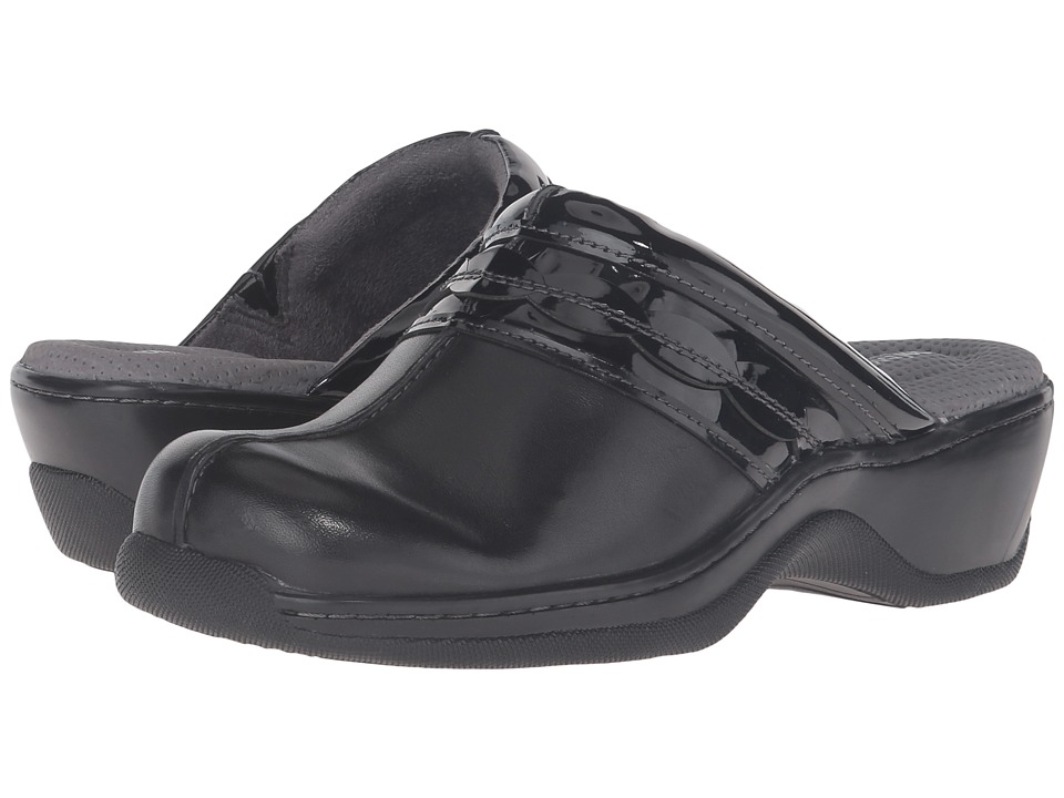SoftWalk Abby (Black Veg Calf Leather/Patent) Women