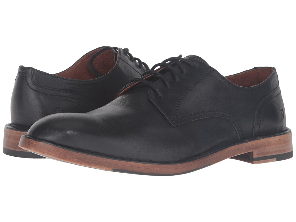 Frye Mark Oxford (Black Tumbled Full Grain) Men