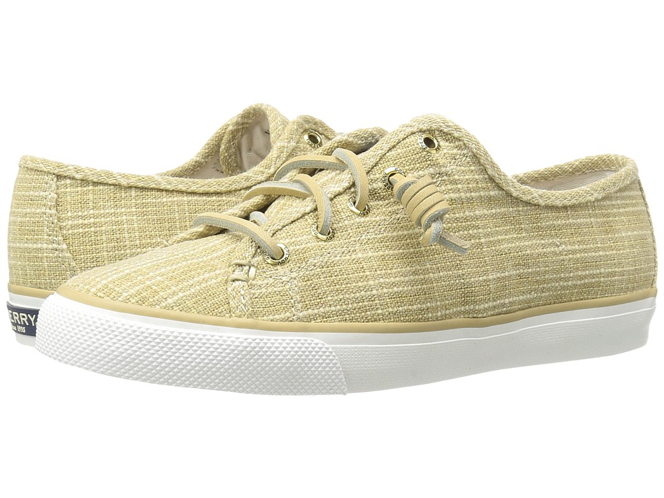 Sperry - Seacoast Sparkle Canvas (Gold) Women's Lace up casual Shoes