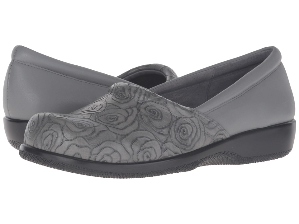 SoftWalk - Adora (Grey Rose Embossed/Soft Nappa Leather) Women's Shoes