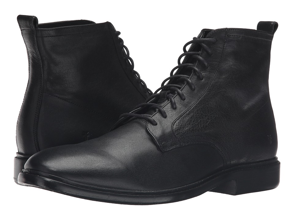 Frye - Patrick Lace-Up (Black) Men's Shoes