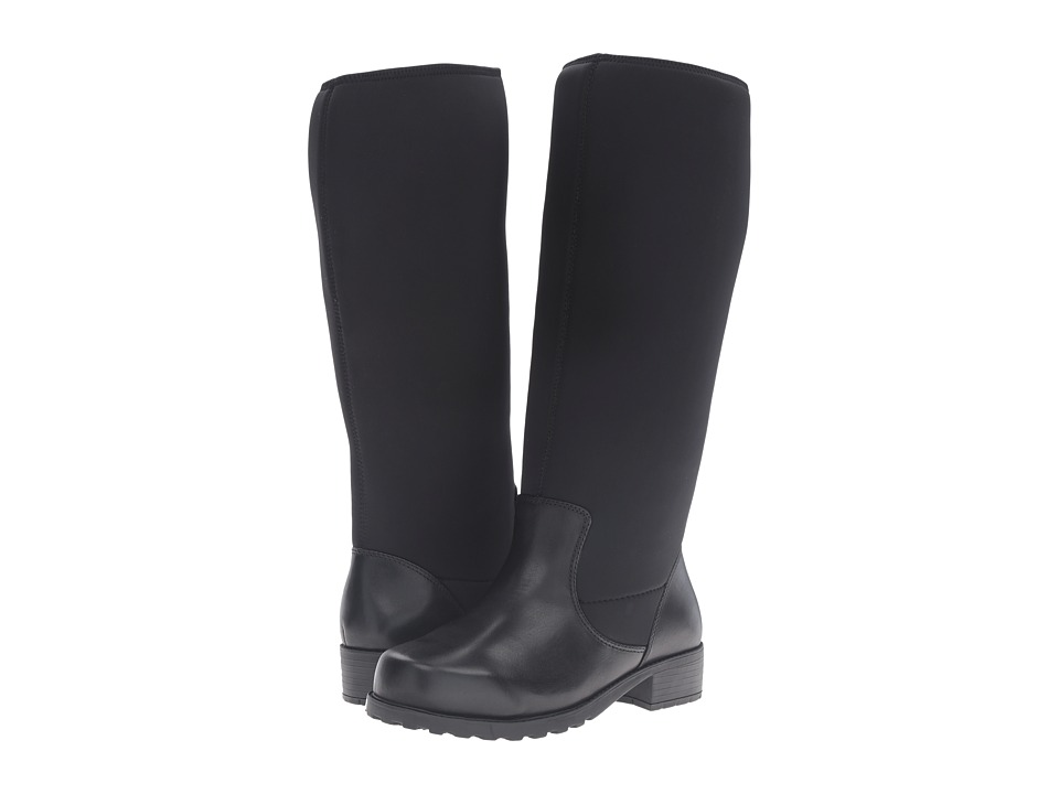 SoftWalk - Biloxi Wide Calf (Black Smooth Leather) Women's Boots
