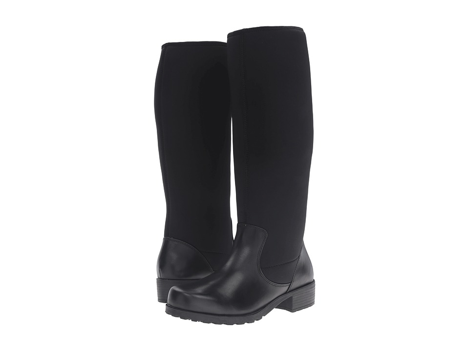 SoftWalk - Biloxi (Black Smooth Leather) Women's Boots