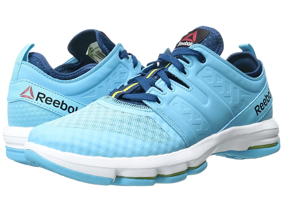 Reebok - DMX Flex Optimum (Crisp Blue/Noble Blue/Hero Yellow/White) Women's Walking Shoes