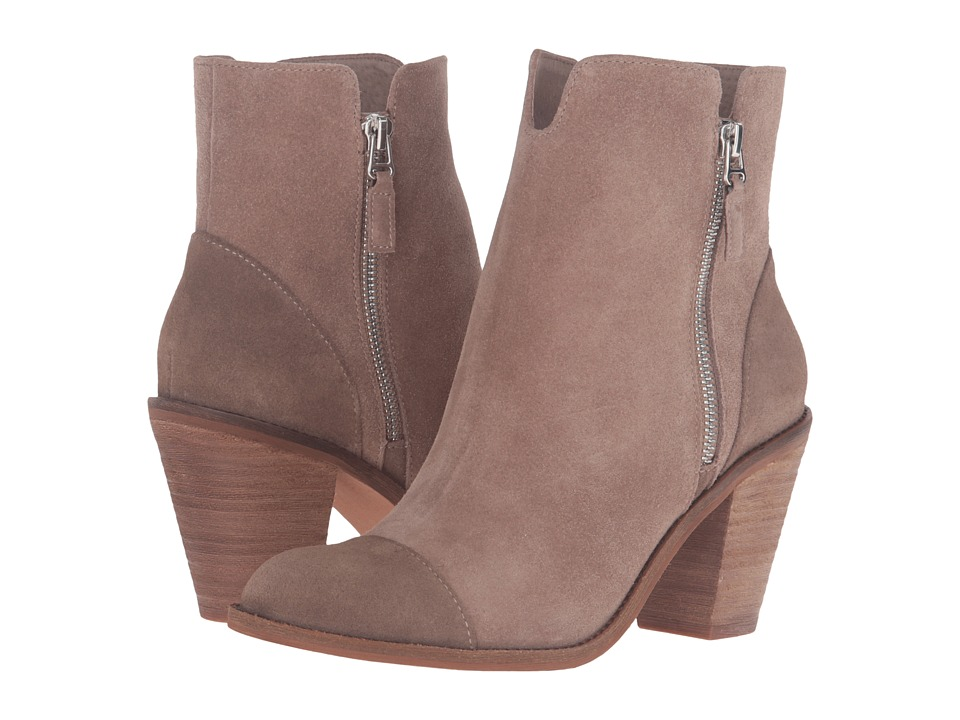 SoftWalk Fairhill (Dark Taupe Cow Suede Leather) Women