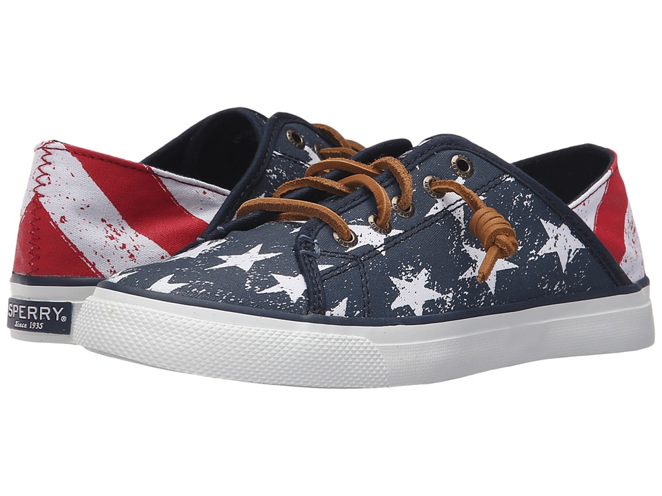Sperry Top-Sider - Seacoast Isle Stars Stripes (Red/White/Blue) Women's Lace up casual Shoes