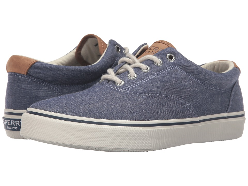 Sperry Top-Sider - Striper Chambray (Navy) Men's Lace up casual Shoes