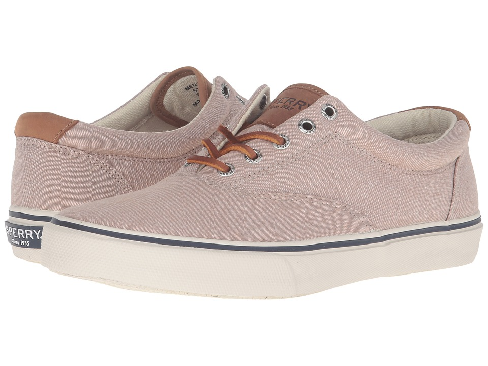 Sperry Top-Sider - Striper Chambray (Khaki) Men's Lace up casual Shoes