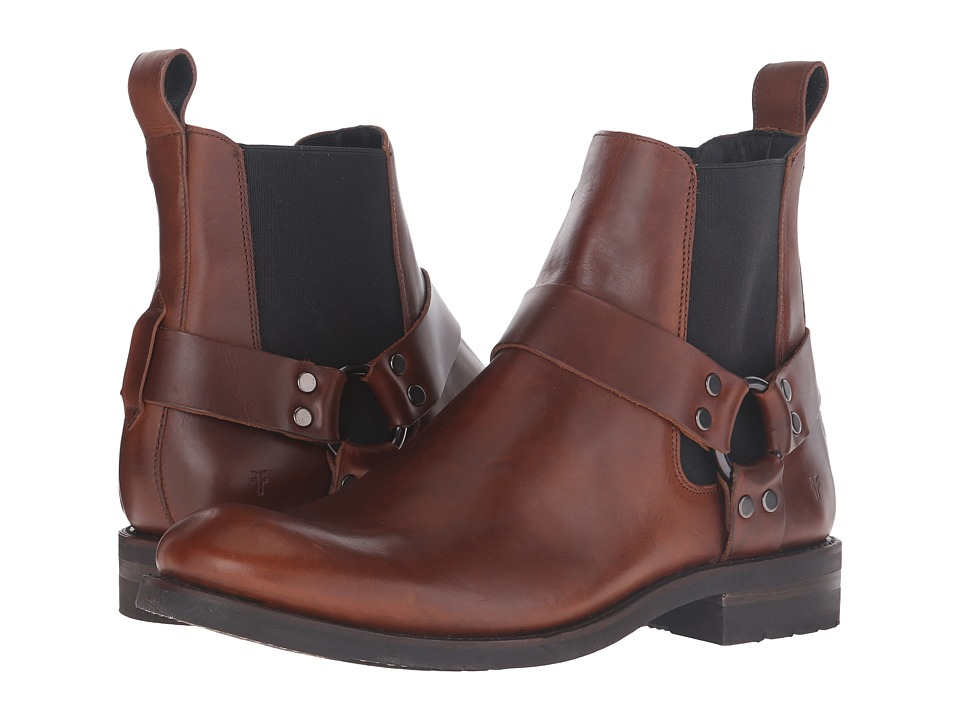 Frye - Stone Harness Chelsea (Whiskey Smooth Pull-Up) Men's Pull-on Boots