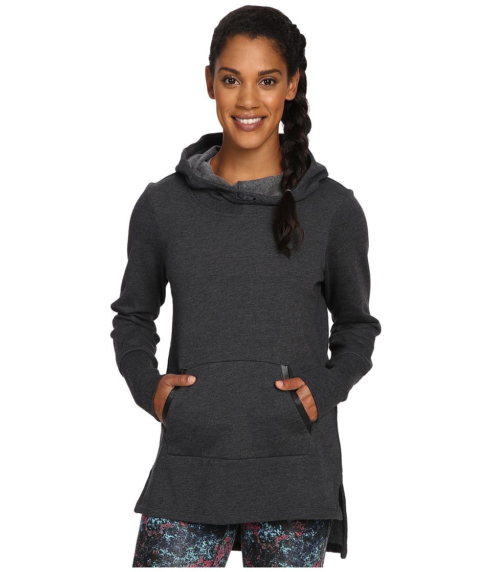 Lole - Gali Hooded Tunic (Black Heather) Women's Sweatshirt