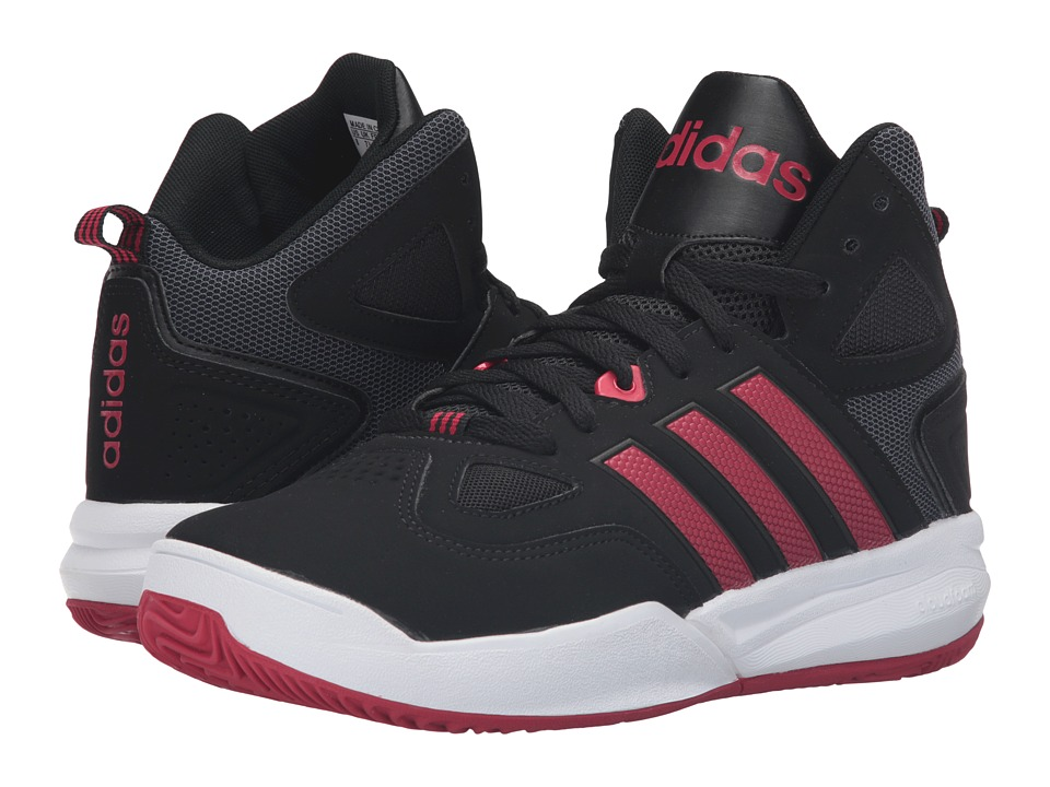 adidas - Cloudfoam Thunder Mid (Black/Red/White) Men's Basketball Shoes