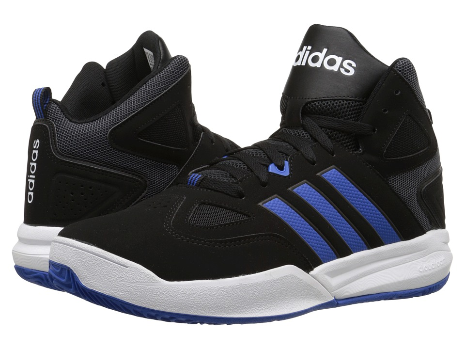 adidas - Cloudfoam Thunder Mid (Black/Royal/White) Men's Basketball Shoes
