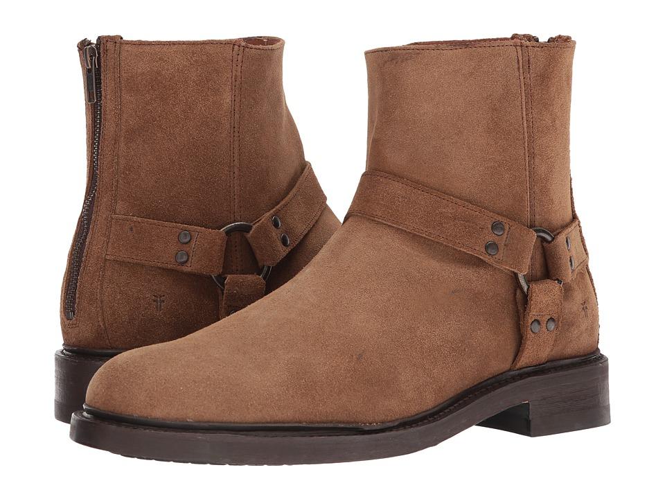 Frye - Walt Harness (Fatigue Waxed Suede) Men's Slip on Shoes