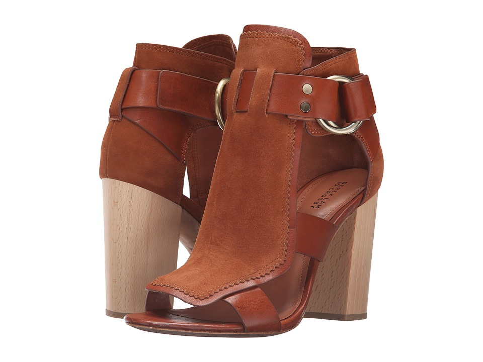 10 Crosby Derek Lam - Marya (Rust Cow Suede/Tumbled Vacchetta) Women's Shoes