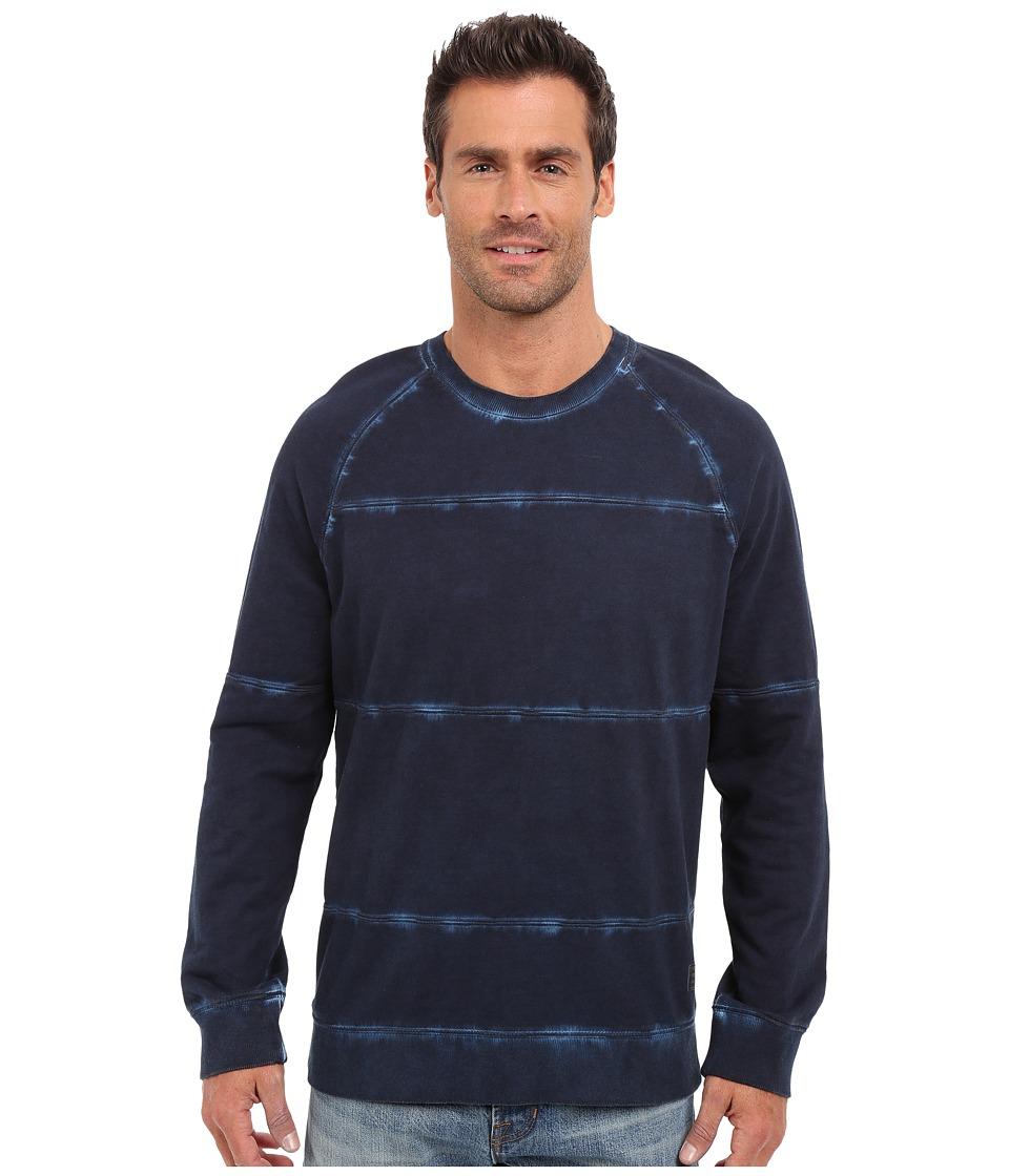 Calvin Klein Jeans - Cold Pigment Dye Stripe Shirt (Navy Armada) Men's Sweatshirt