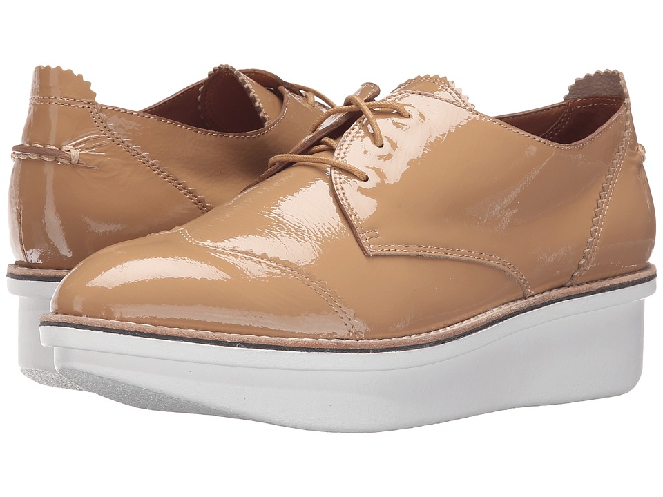 10 Crosby Derek Lam - Grady (Tan Crinkle Patent) Women's Shoes
