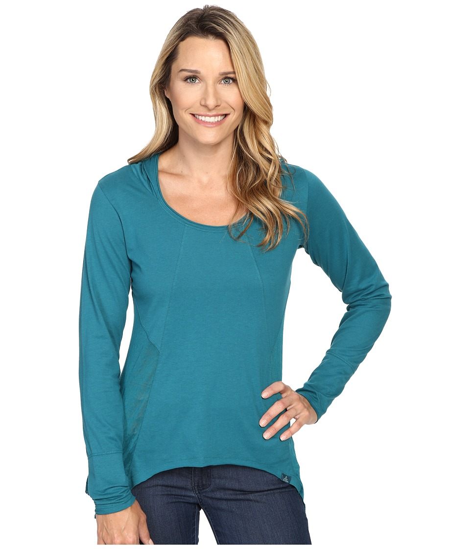 Prana Lauriel Hoodie (Harbor Blue) Women