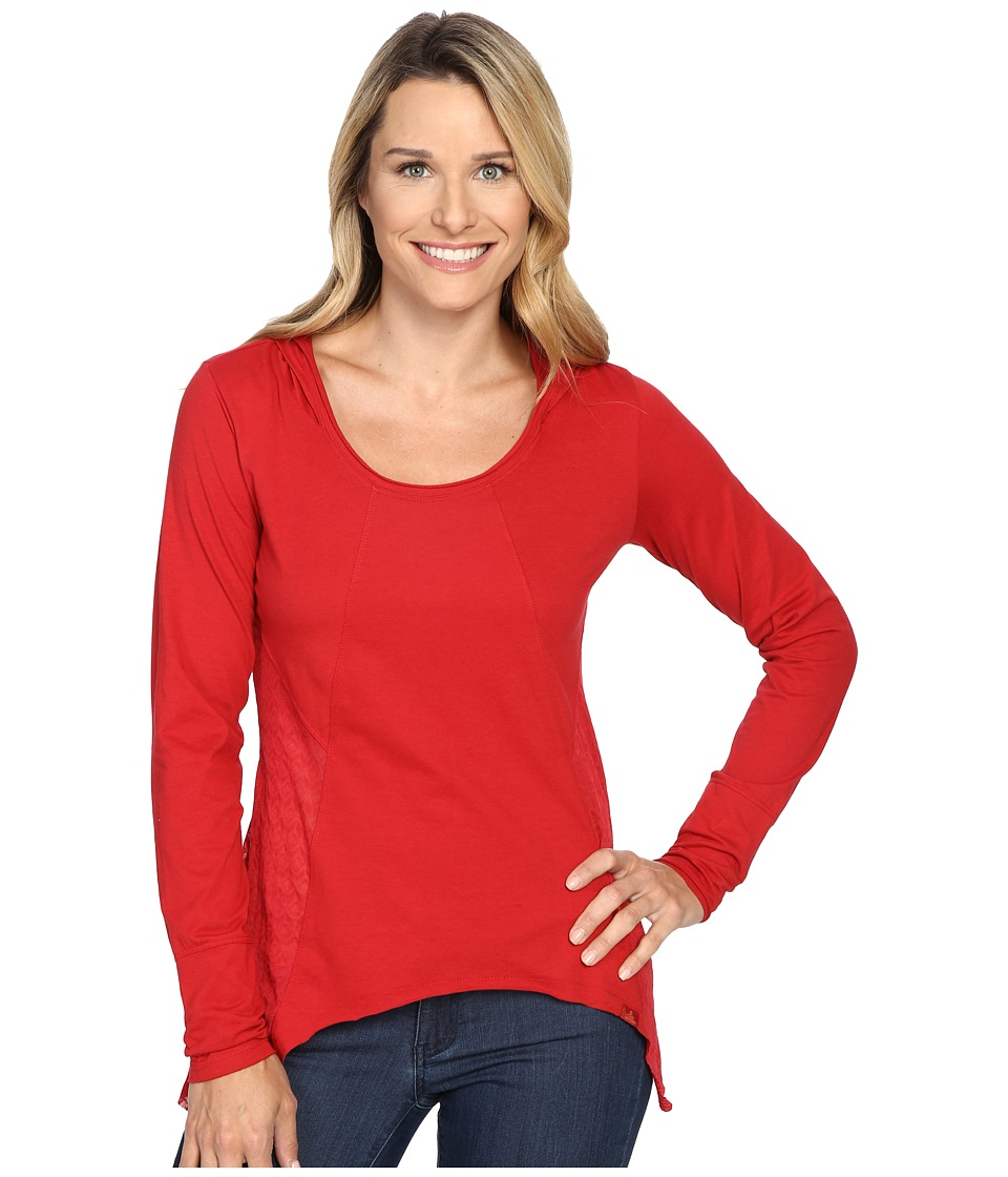 Prana Lauriel Hoodie (Sunwashed Red) Women