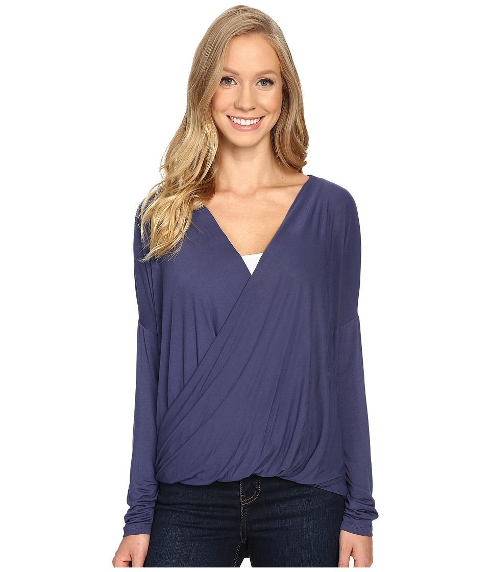 Prana - Cascade Top (Gray Indigo) Women's Clothing