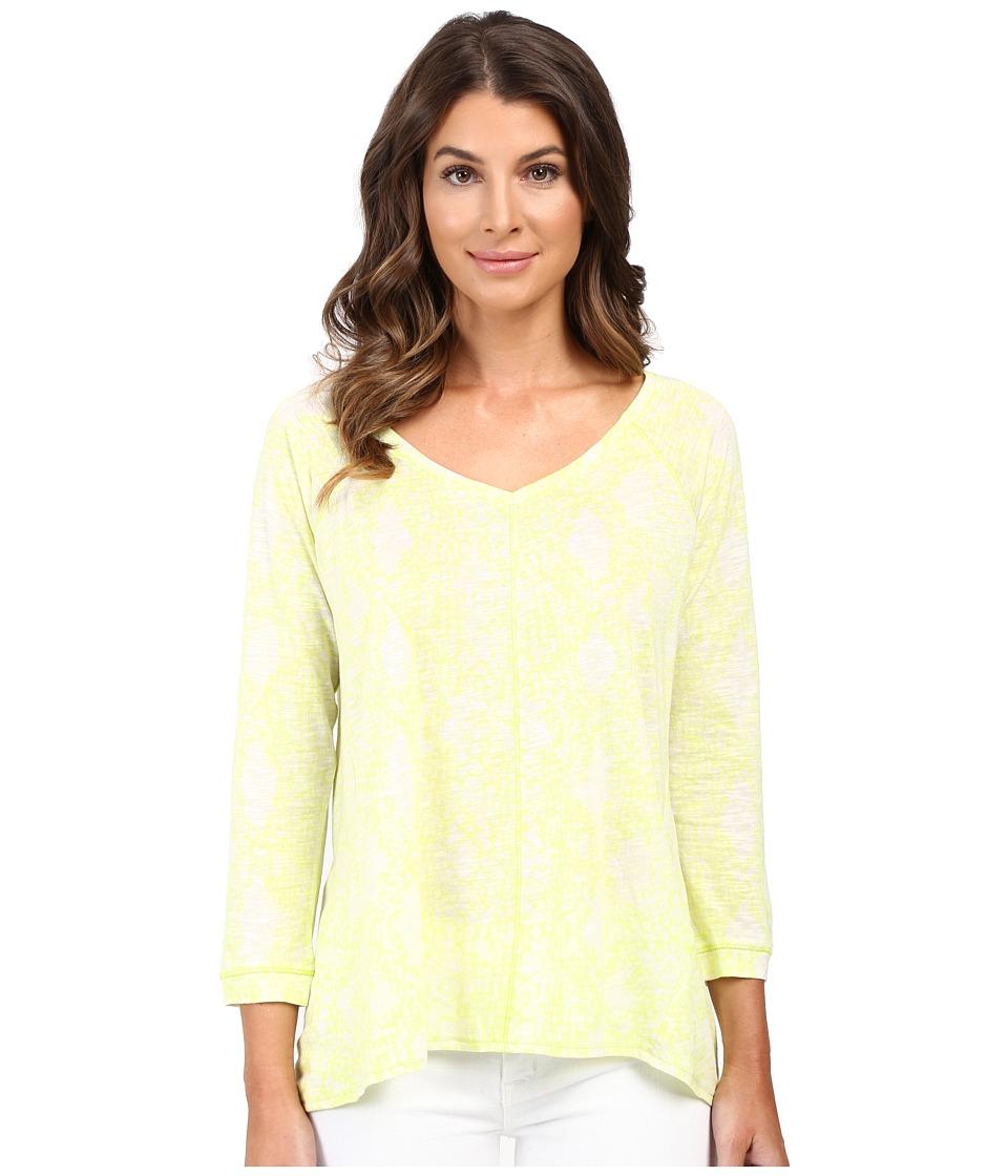 Calvin Klein Jeans - 3/4 Sleeve Printed Slub Tee (Radical) Women's T Shirt
