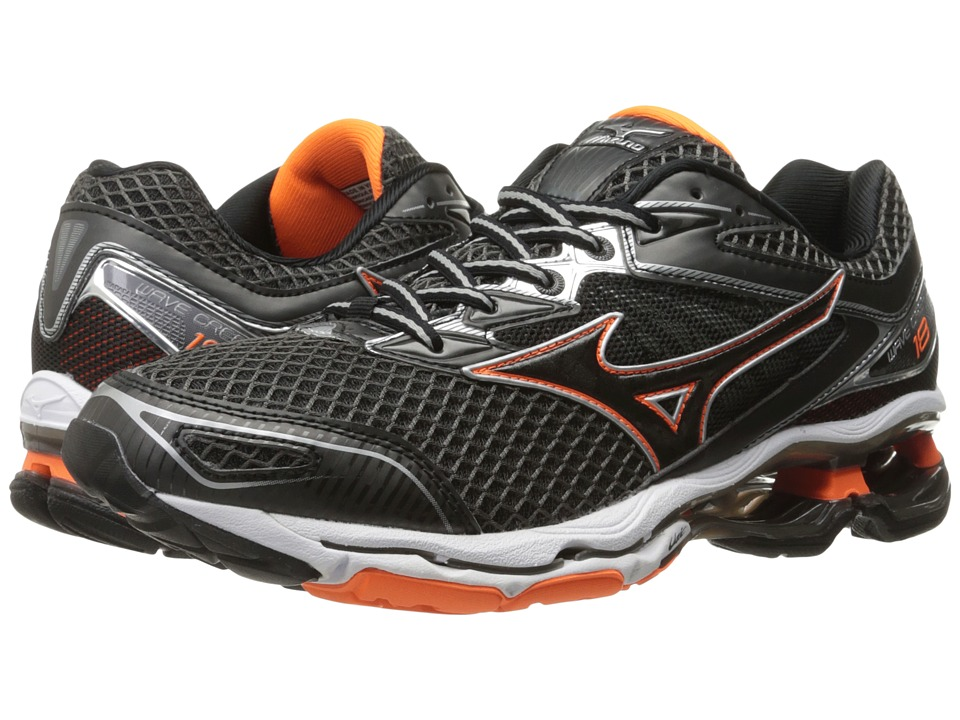 Mizuno - Wave Creation 18 (Dark Shadow/Clownfish/Black) Men's Running Shoes