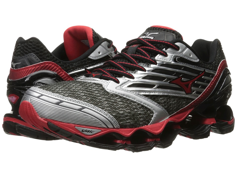 Mizuno - Wave Prophecy 5 (Gunmetal/High Risk Red/Black) Men's Running Shoes