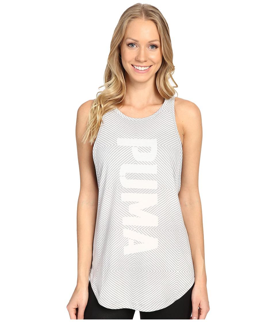 PUMA - Dancer Puma Burnout Tank Top (Light Gray Heather) Women's Sleeveless