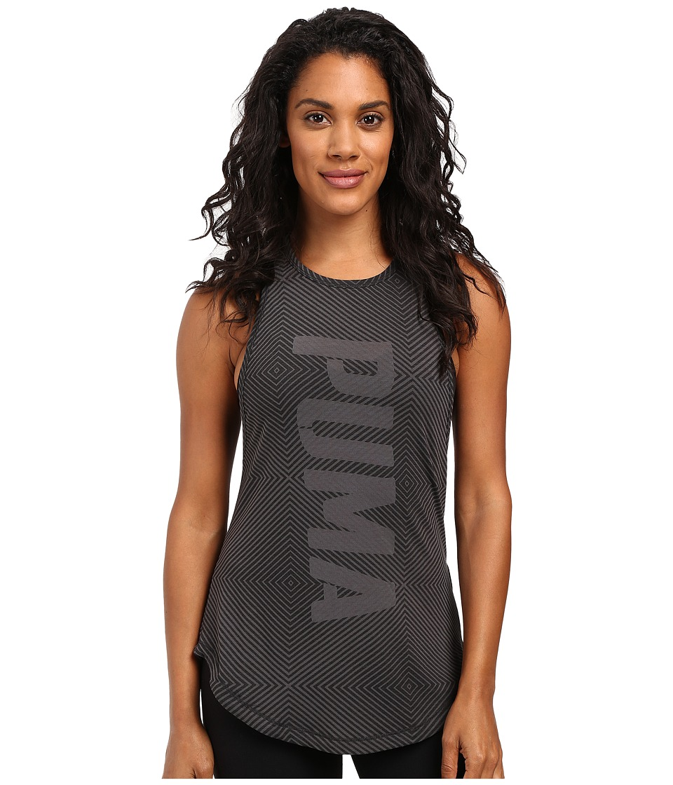 PUMA - Dancer Puma Burnout Tank Top (Dark Gray Heather) Women's Sleeveless