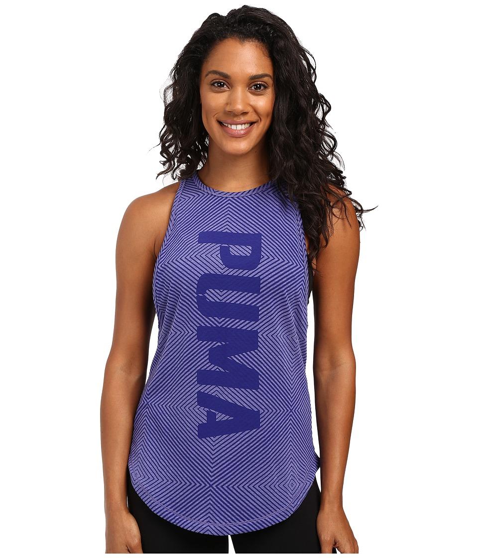 PUMA - Dancer Puma Burnout Tank Top (Royal Blue Heather) Women's Sleeveless