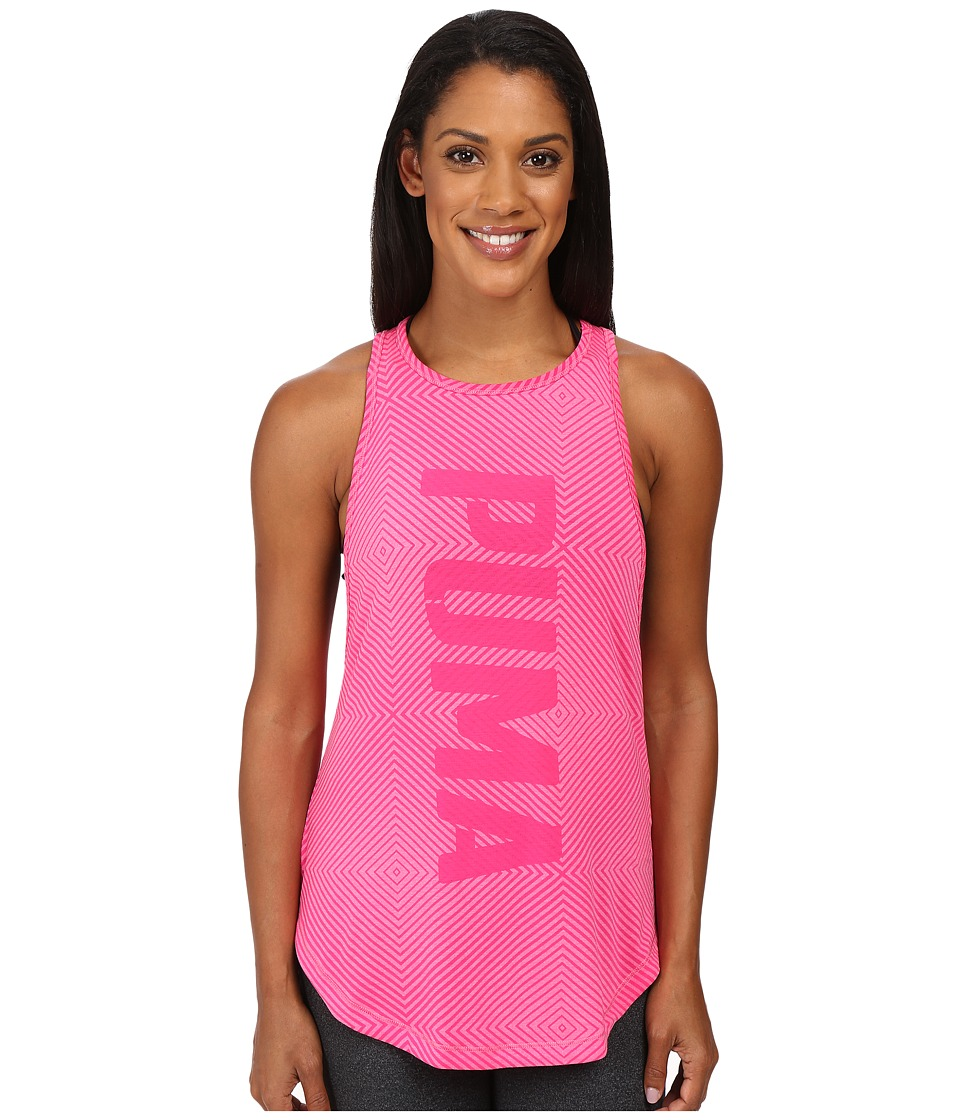 PUMA - Dancer Puma Burnout Tank Top (Pink Glo Heather) Women's Sleeveless