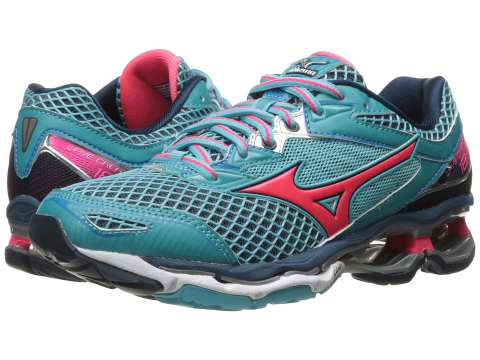 Mizuno - Wave Creation 18 (Capri/Diva Pink/Dress Blue) Women's Running Shoes