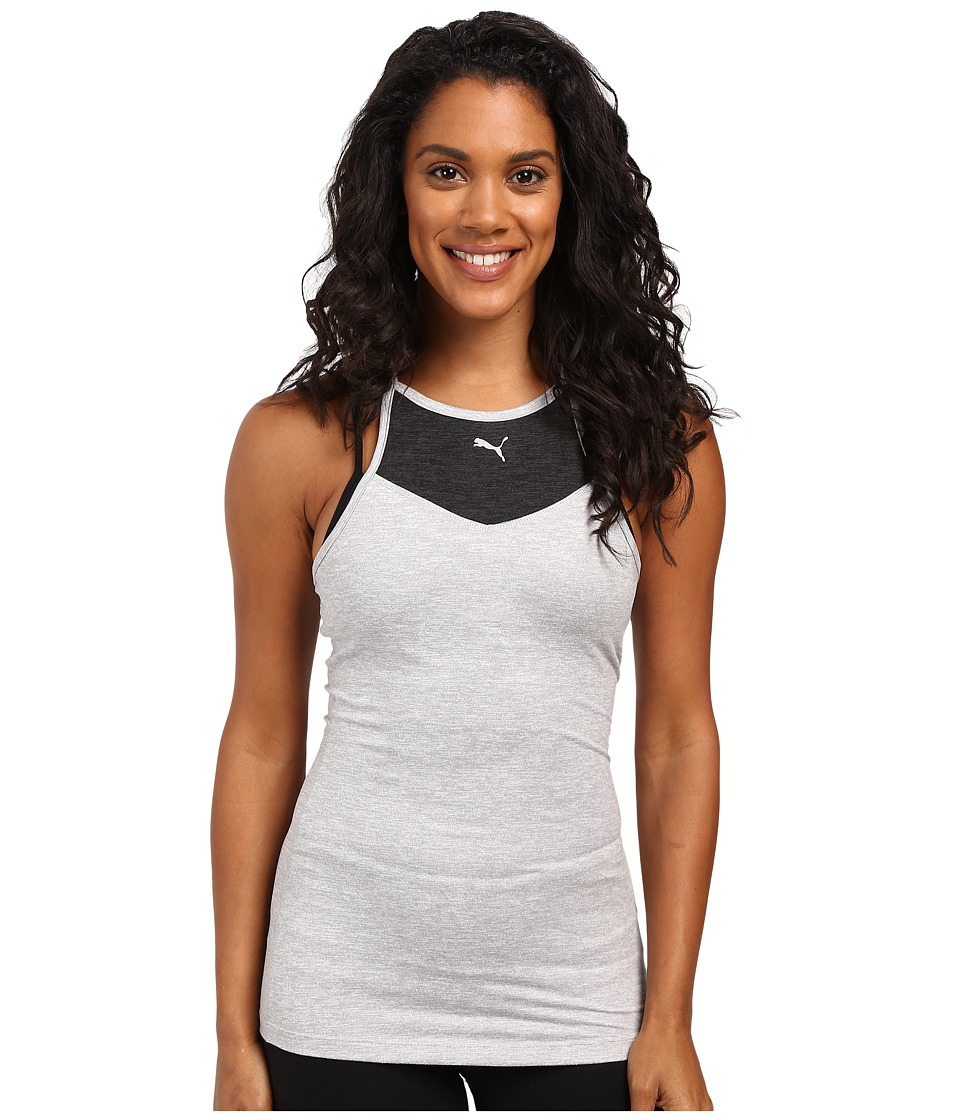 PUMA - Yogini Long Lean Tank Top (Light Gray Heather) Women's Sleeveless