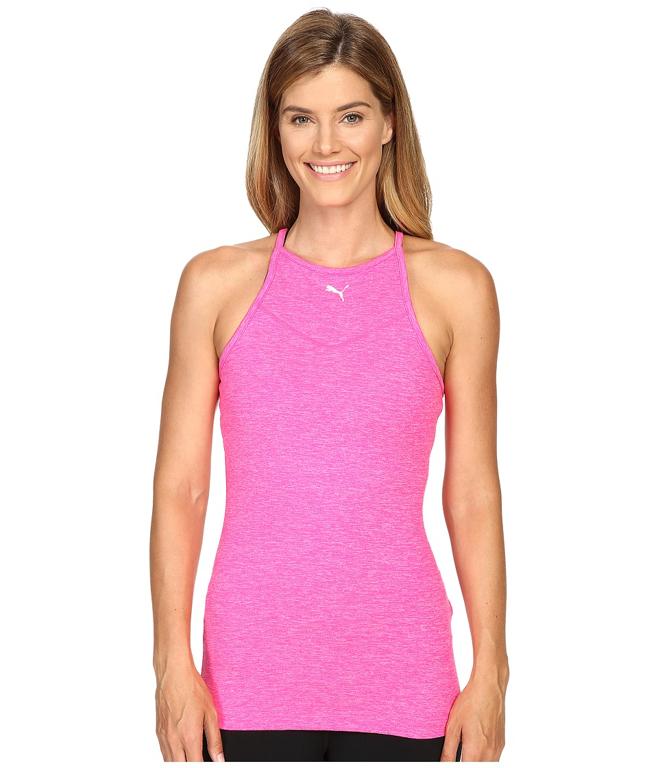 PUMA - Yogini Long Lean Tank Top (Pink Glo Heather) Women's Sleeveless