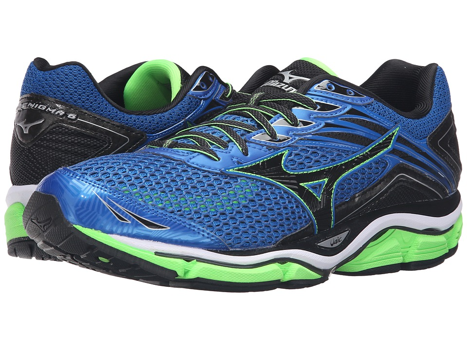 Mizuno - Wave Enigma 6 (Skydiver/Black/Green Gecko) Men's Running Shoes