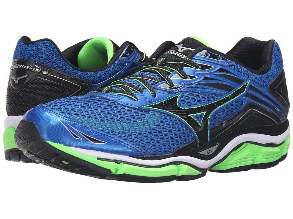 Mizuno - Wave Enigma 6 (Skydiver/Black/Green Gecko) Men's Running Shoes