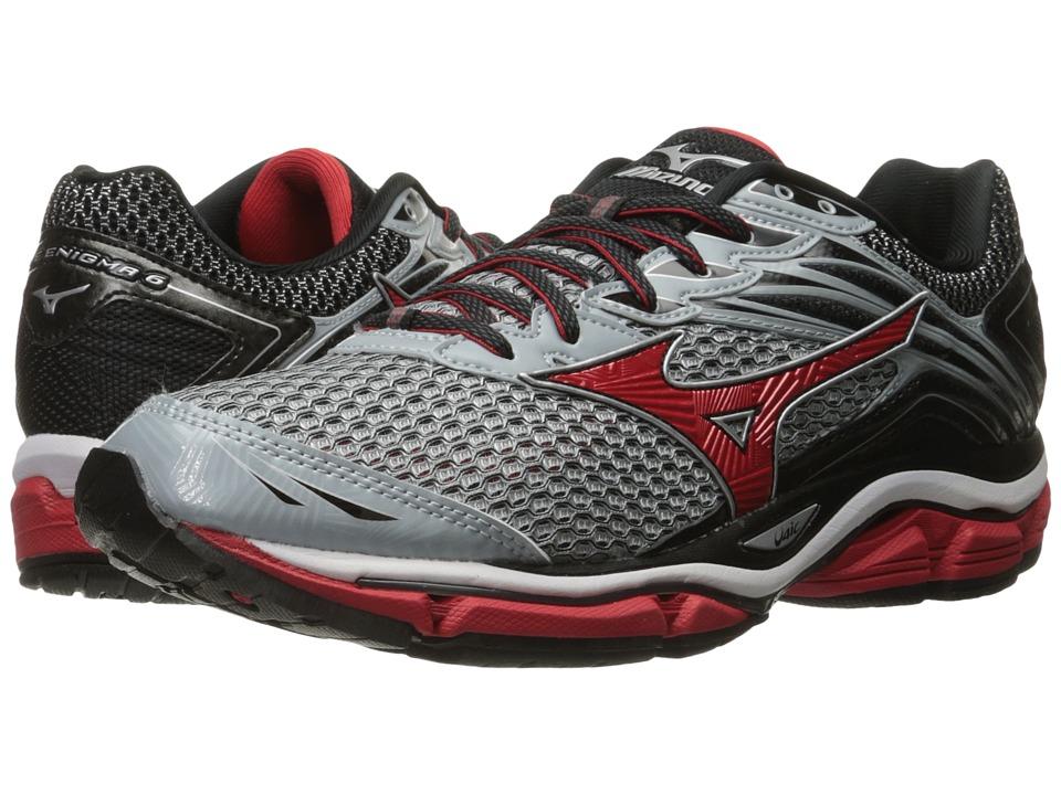 Mizuno - Wave Enigma 6 (Quarry/High Risk Red/Black) Men's Running Shoes