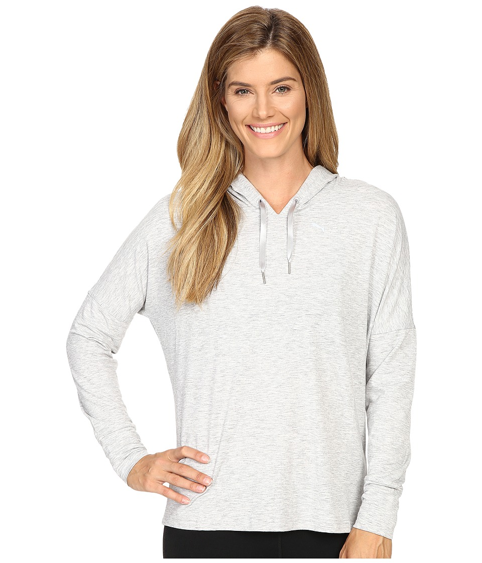 PUMA Open Back Hoodie (Light Gray Heather) Women