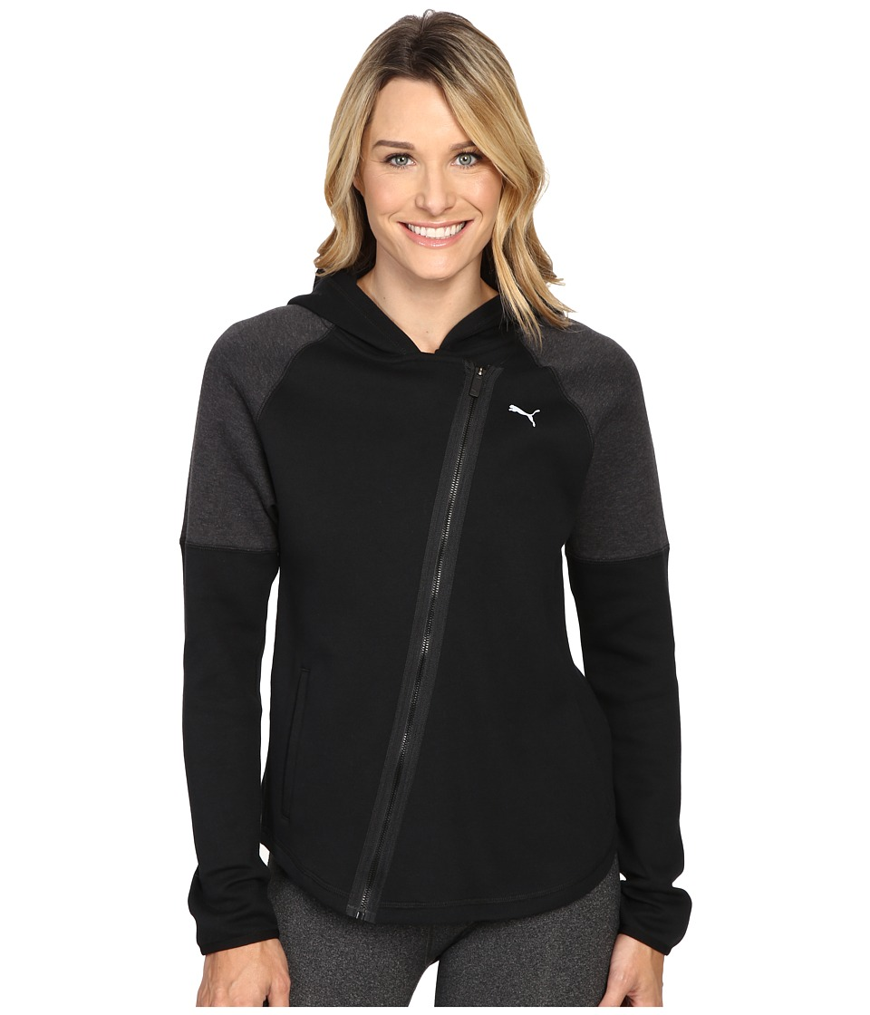 PUMA - Yogini Jacket (Puma Black/Dark Gray Heather) Women's Coat