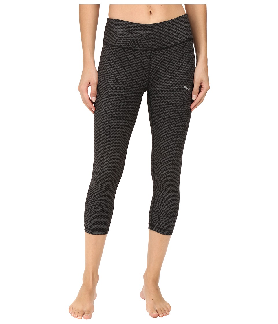 PUMA - All Eyes One Me 3/4 Tights (PUMA Black) Women's Casual Pants