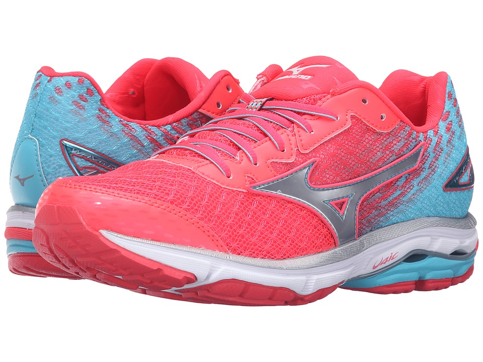 Mizuno - Wave Rider 19 (Diva Pink/Capri/Silver) Women's Running Shoes