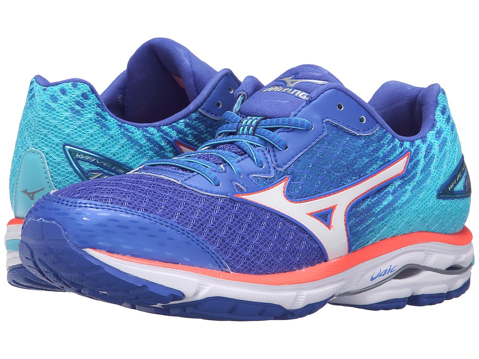 Mizuno - Wave Rider 19 (Dazzling Blue/White/Capri) Women's Running Shoes