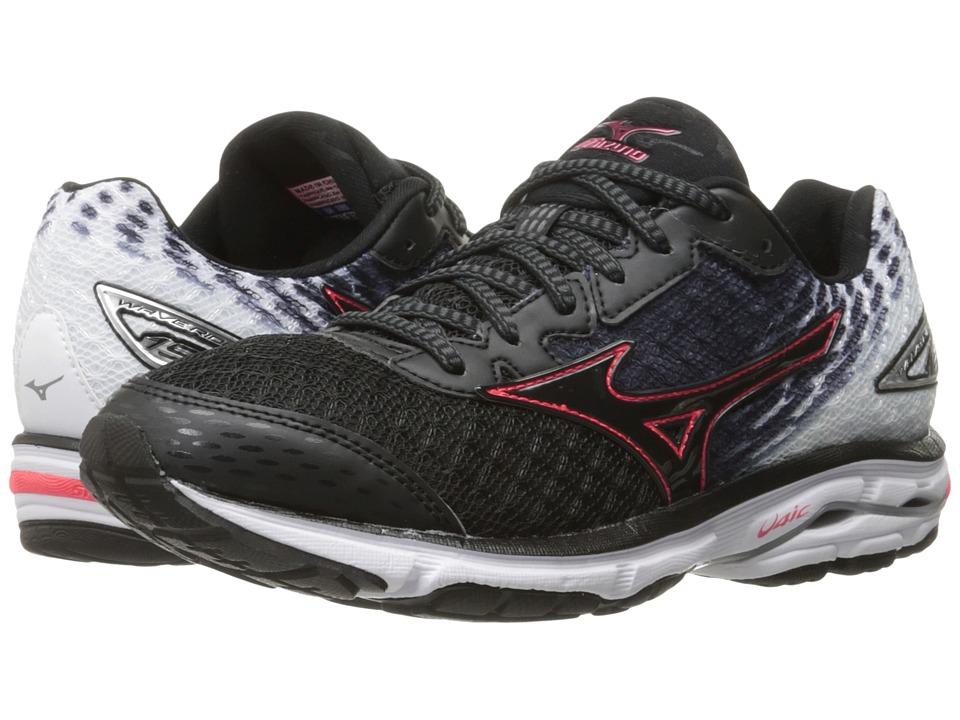 Mizuno - Wave Rider 19 (Black/Diva Pink/White) Women's Running Shoes