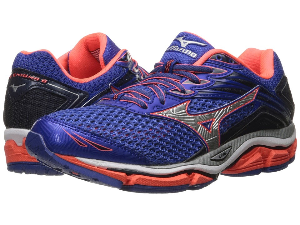 Mizuno - Wave Enigma 6 (Dazzling Blue/Fiery Coral/Silver) Women's Running Shoes