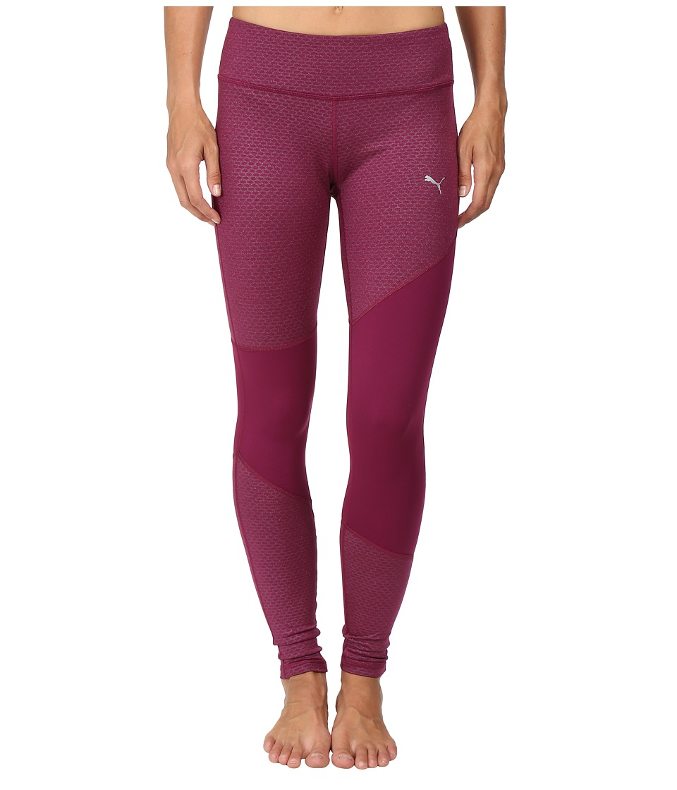 PUMA - Clash Tights (Magenta Purple Heather) Women's Casual Pants