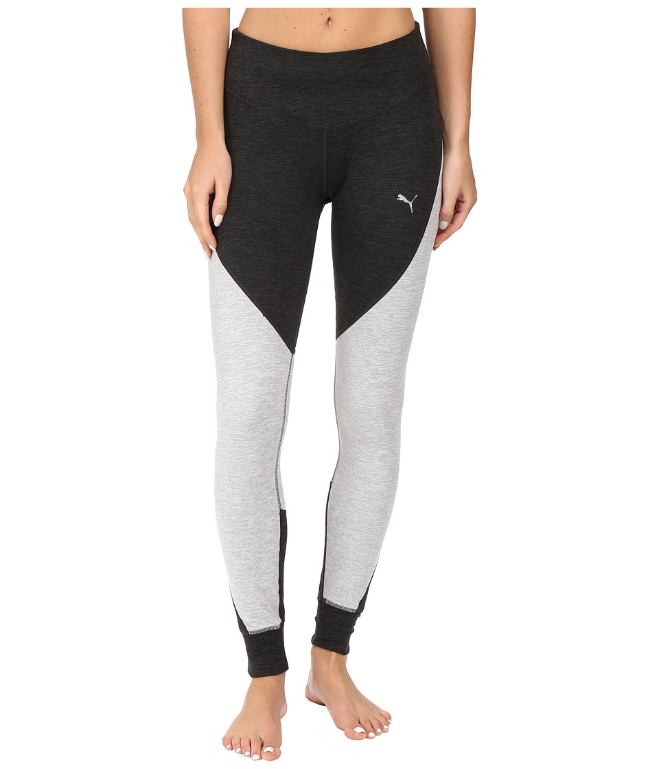 PUMA - Yogini Heather Tights (Light Gray Heather) Women's Workout