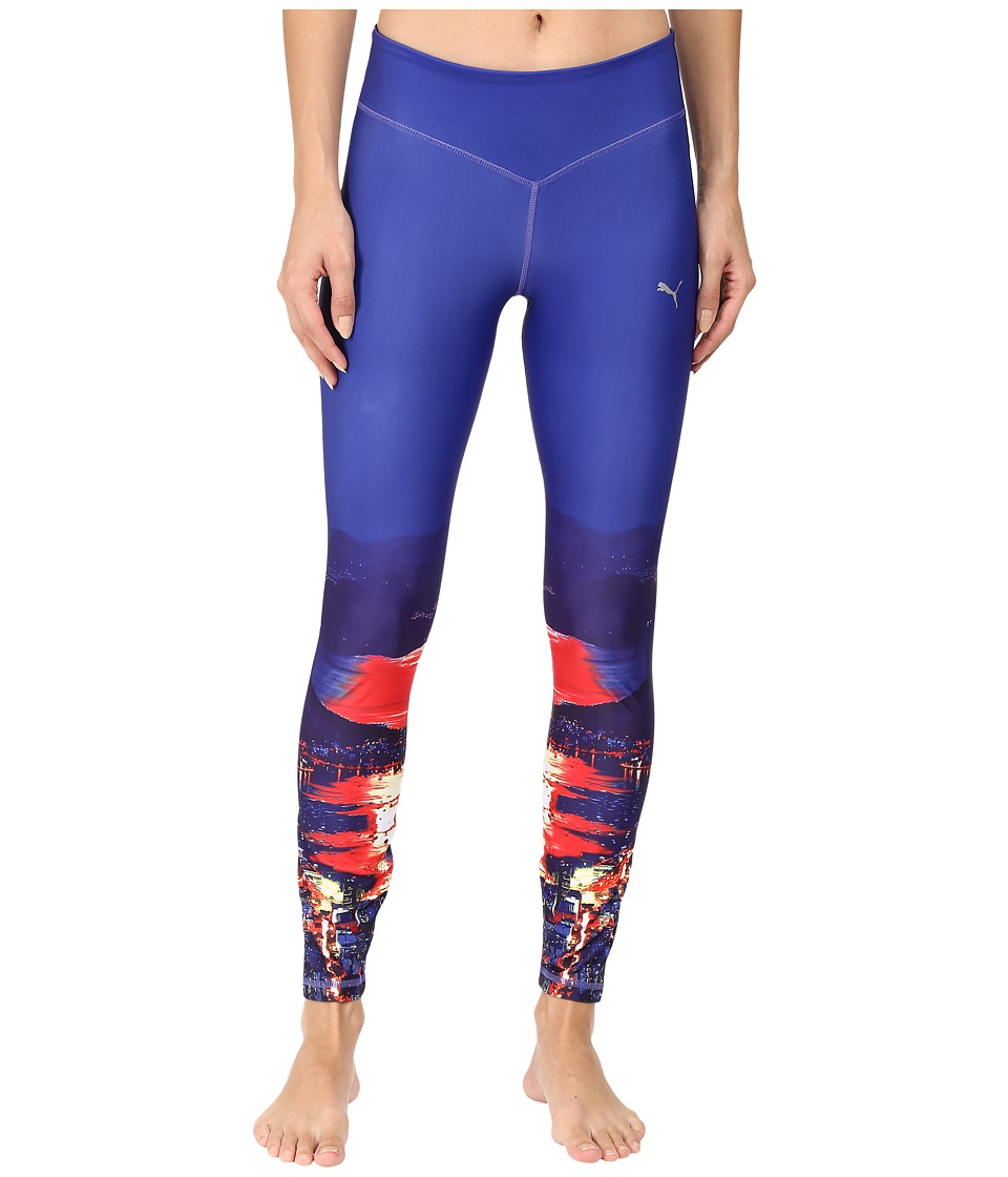 PUMA - Shatter Tights (Royal Blue/Rio) Women's Casual Pants