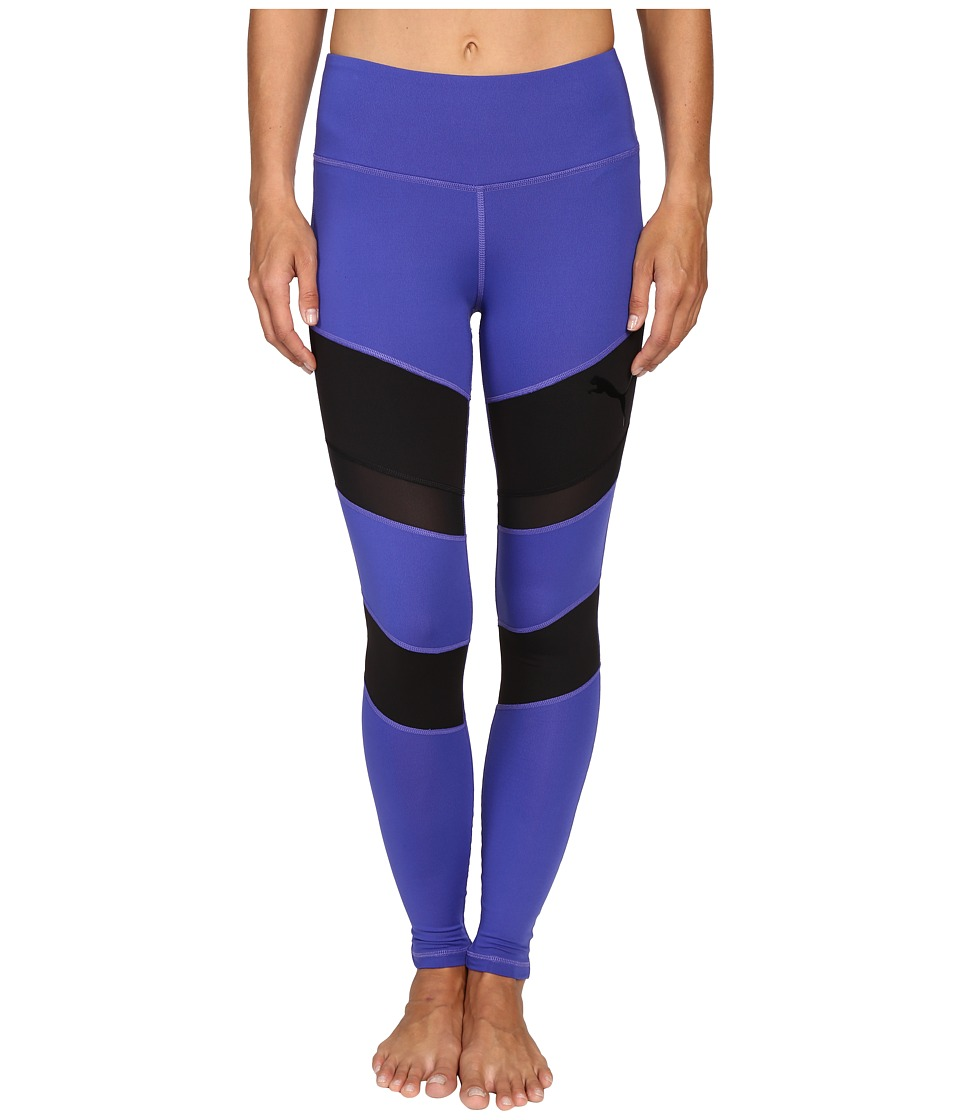 PUMA - Mix Material Tights (Royal Blue/Puma Black) Women's Casual Pants