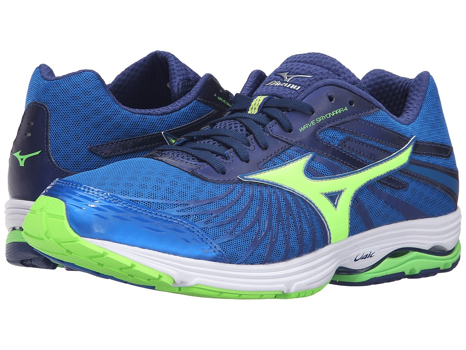 Mizuno - Wave Sayonara 4 (Skydiver/Green Gecko/Twilight Blue) Men's Running Shoes